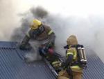 Пожарно-спасательные подразделения МЧС России ликвидировали пожар на территории Правдинского ГО