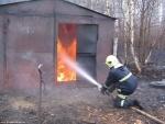 Пожарно-спасательное подразделение МЧС России ликвидировало пожар на территории Правдинского ГО