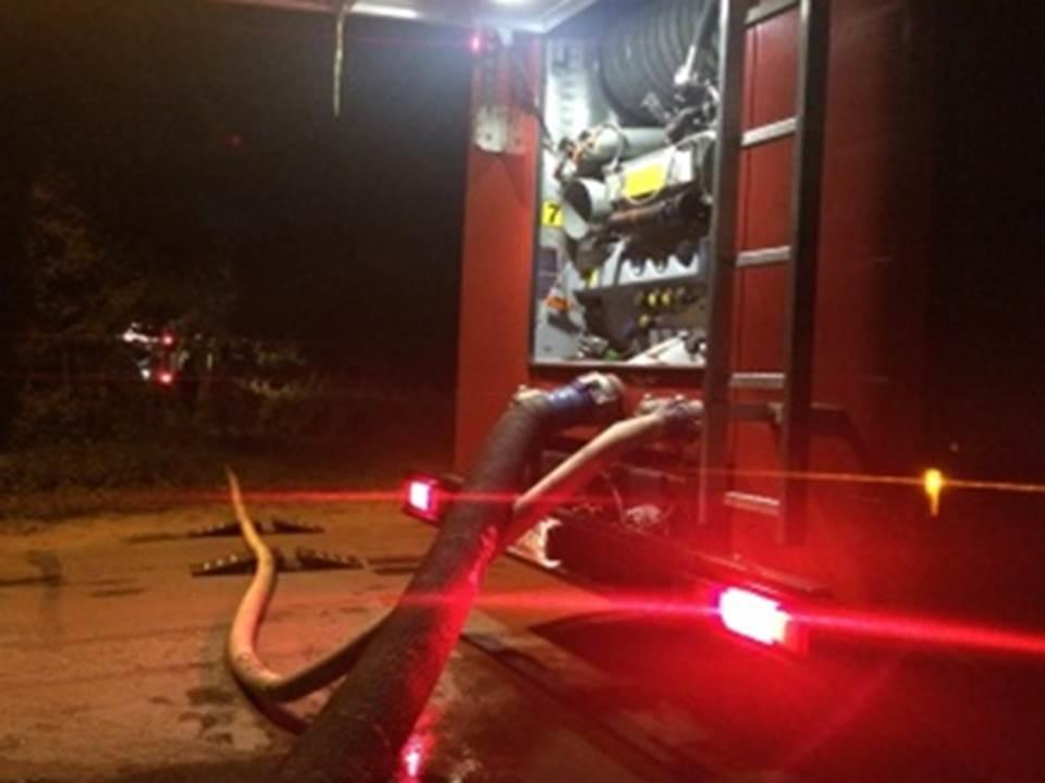 Пожарно-спасательные подразделения МЧС России ликвидировали пожар на территории Черняховского ГО