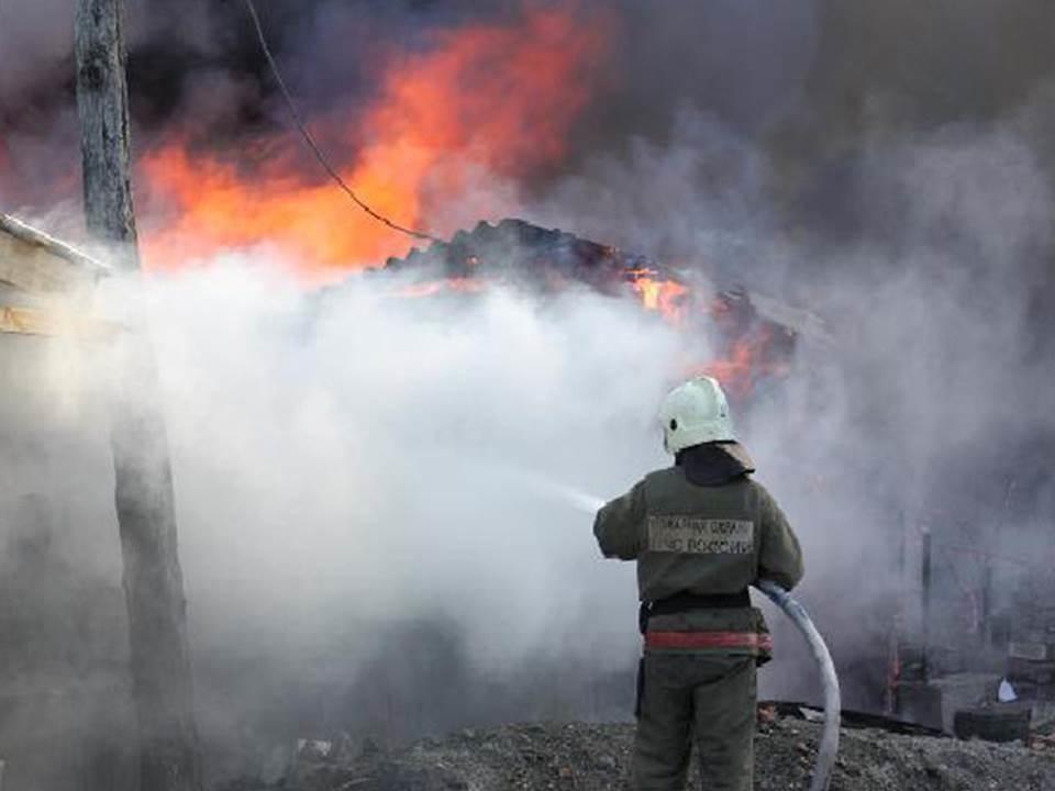 Пожарно-спасательные подразделения МЧС России ликвидировали пожар на территории Полесского ГО